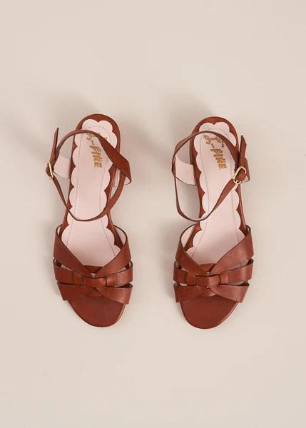 Isla Tan Low Heel Sandal – Miss L Fire Ltd