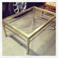 Budget DIY Metal Coffee Table Makeover Using Rustoleum ...