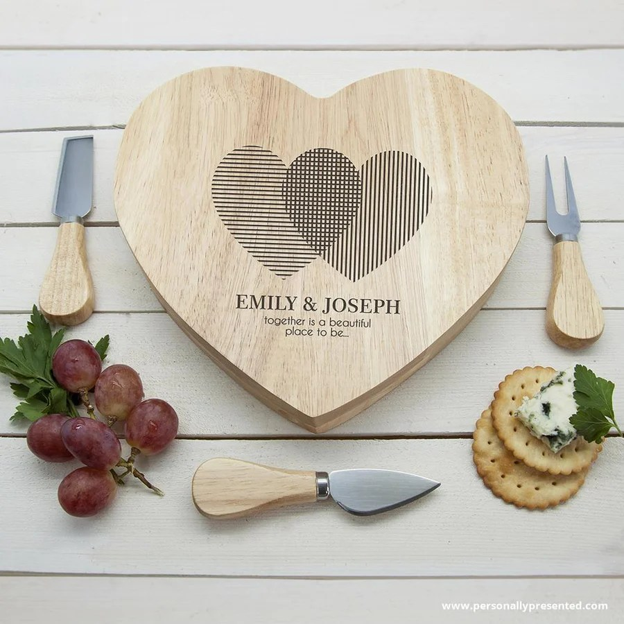 small resolution of engraved heart venn diagram heart cheese board
