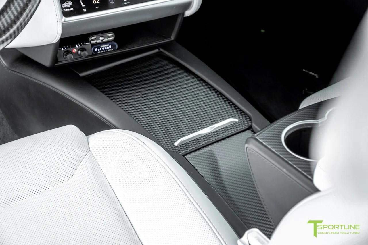 small resolution of tesla model x p100d white interior carbon fiber dash kit dashboard steering