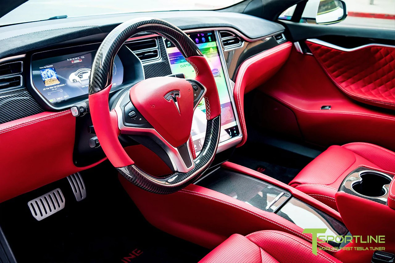 small resolution of model s with gloss tesla carbon fiber center console flip door and sliding tray panel set