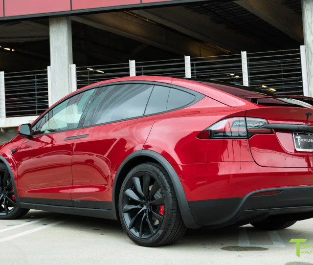 Red Multi Coat Model X With M Satin Black Chrome Delete