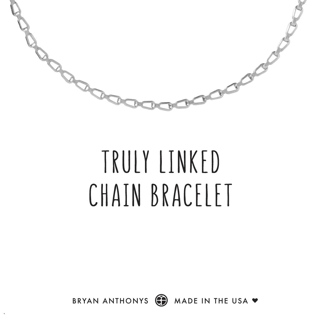 truly linked chain bracelet