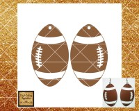 Football Svg, Earrings Svg, Football Earrings Template