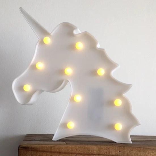 Lmpara de Cabeza Unicornio de Led