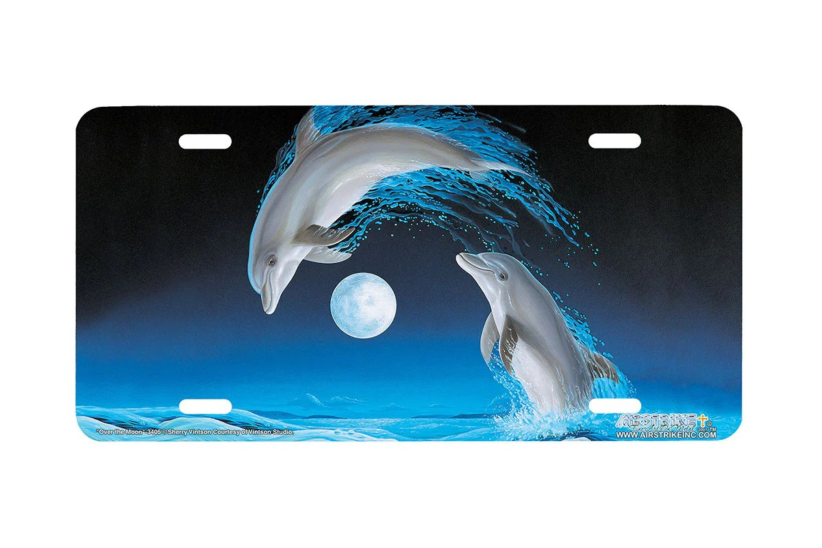 """Airstrike Dolphin License Plate 3405-""""over"""