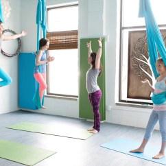 Yoga Swing Chair Plush Leather Kids Aerial Takes Flight Gaiam