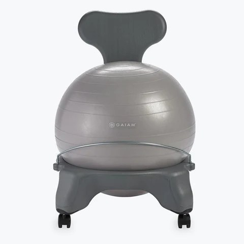 yoga ball office chair selig eames and ottoman gaiam classic balance exercise stability