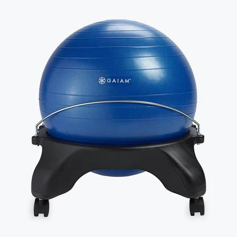 yoga ball office chair unique desk chairs gaiam classic balance exercise stability