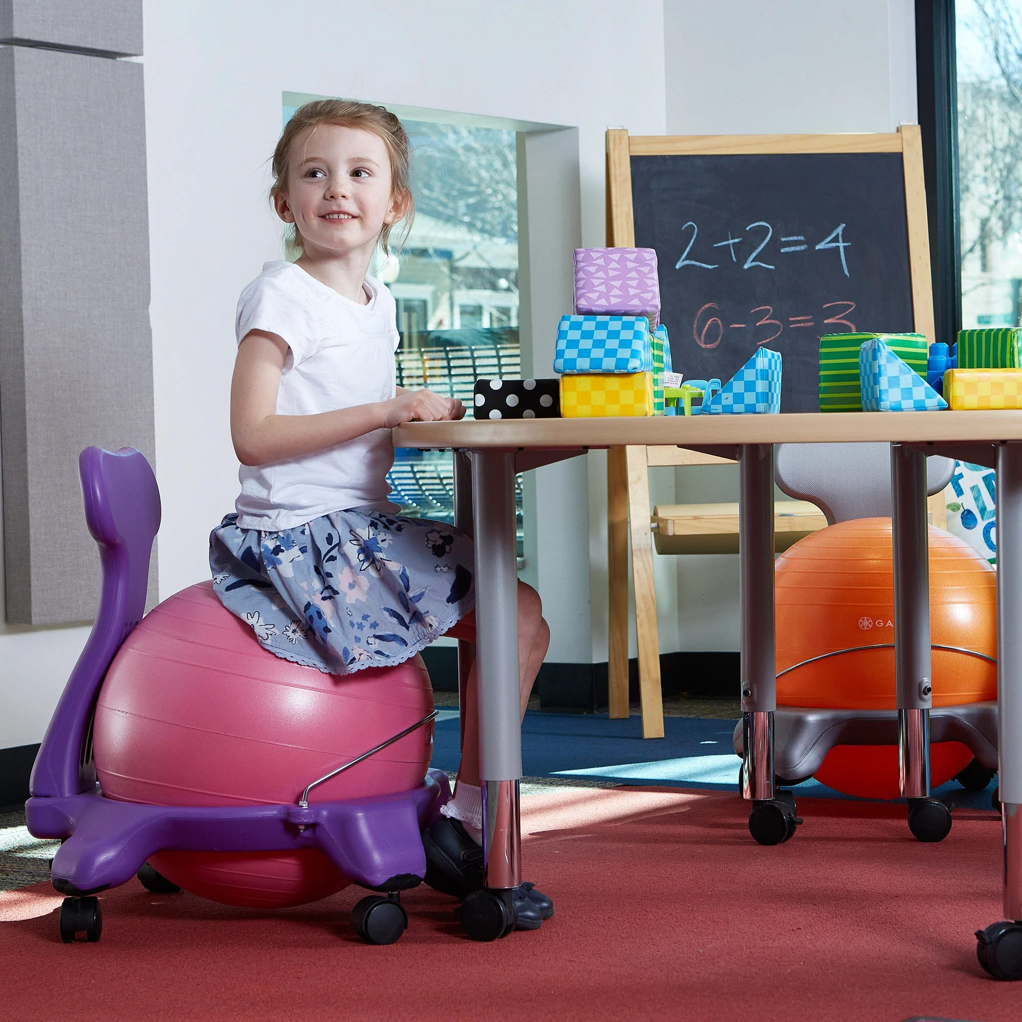 ball chair for kids dining booster seat 4 year old classic balance gaiam