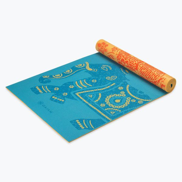 material for chairs to recover hanging canopy chair elephant reversible yoga mat (5mm) - gaiam