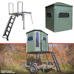 Portable Hunting Chair Cover And Sash Hire Nottingham Trailer Blind Stand - Redneck Blinds
