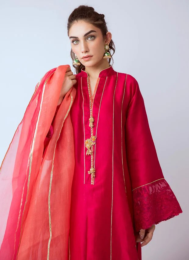 Silk Dress Designs : dress, designs, Designer, Dresses, Gotta, Embroidered, Lavish, Colors, Nameera, Farooq