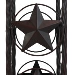 Cast Iron Western Rustic Lone Stars Horseshoes Toilet Paper Holder Sta Ebros Gift