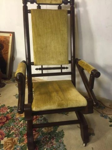 antique platform rocking chair with springs caster replacements chairs best house interior today mechanical iron 12pixshipsgreyhound rh elliesantiques com coil