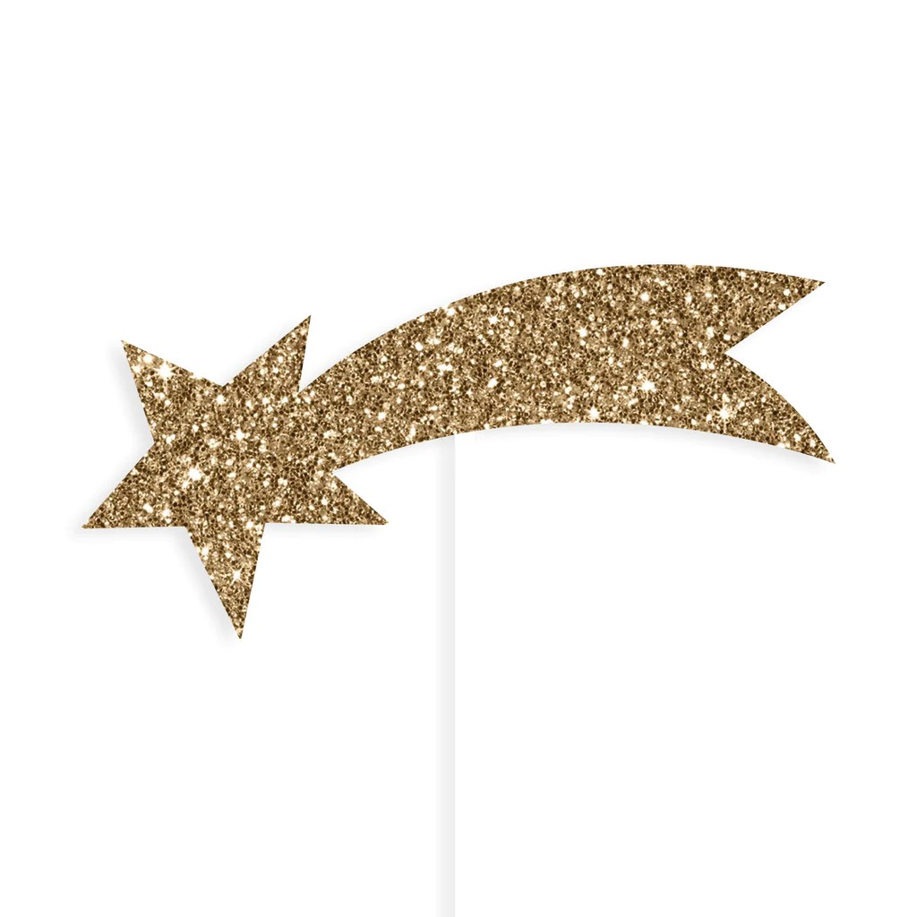 Falling Stars Gif Wallpaper Gold Shooting Star Cake Toppers Lucky Lulu Party Shop