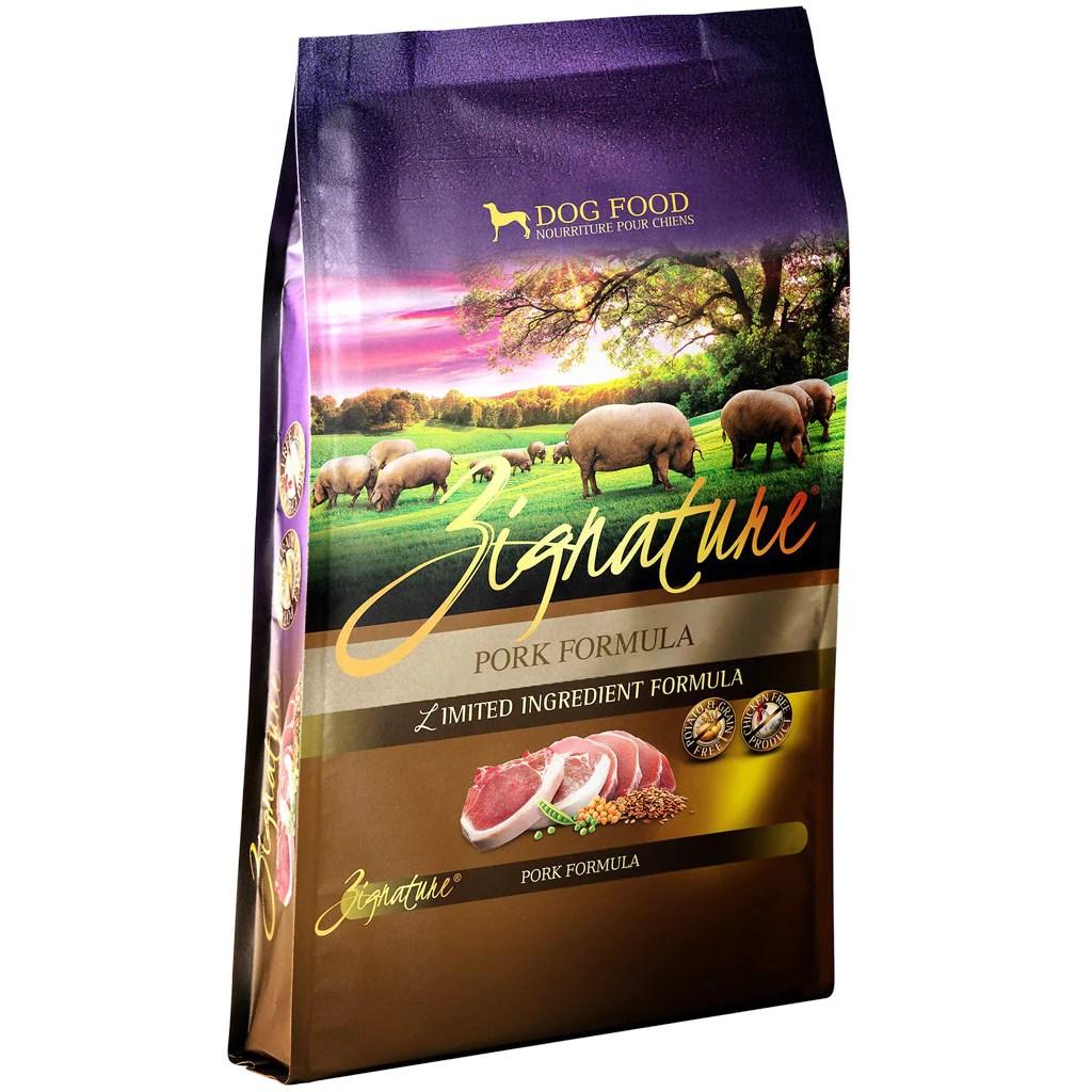 40% OFF: Zignature® Pork Formula Grain-Free Dry Dog Food (3 sizes) – MOBYSpetshop.com