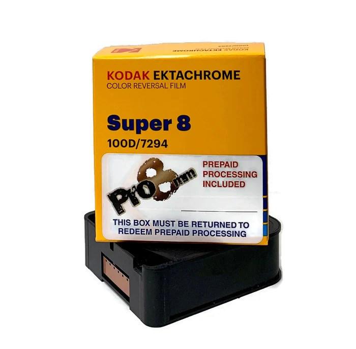 Super8-94 100D Ektachrome Super 8 Package – Pro8mm