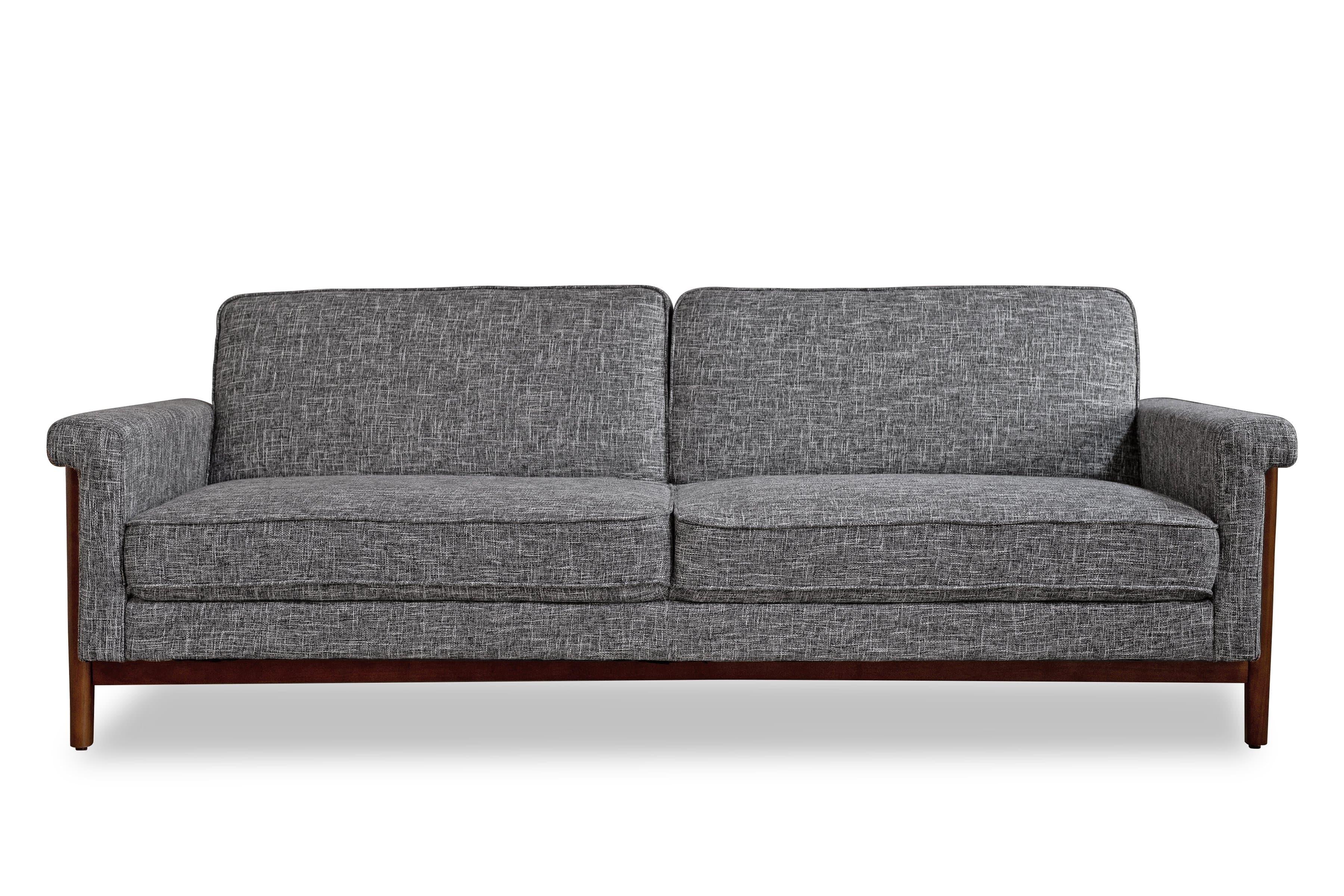 Ashbury Mid Century Modern Futon Sofa Bed Sleeper Sofa Edloe Finch Furniture Co