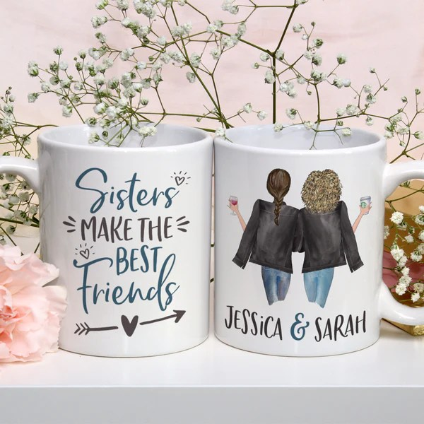 Sisters Make The Best Friends Personalized Mug