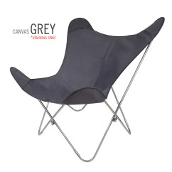 Butterfly Pedicure Chair King Kong Sunbrella Fabric Grey  Big Bkf Buenos Aires