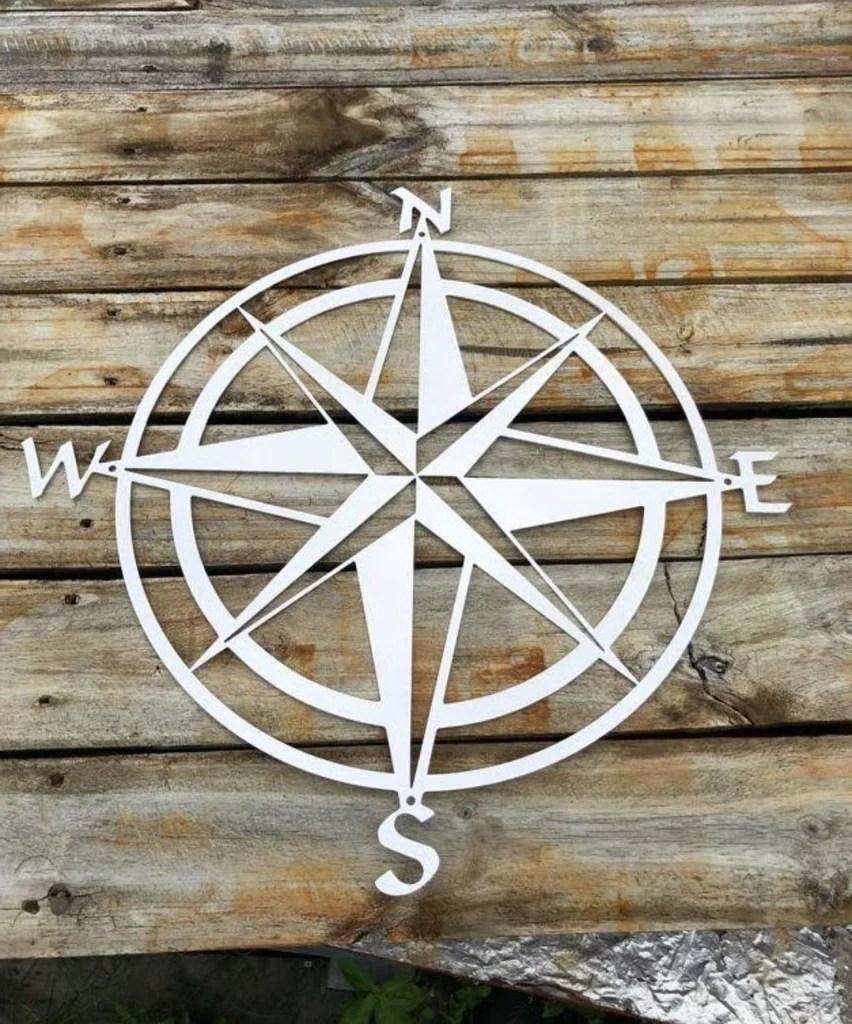 Compass Metal Art Wall Decor - Advanced