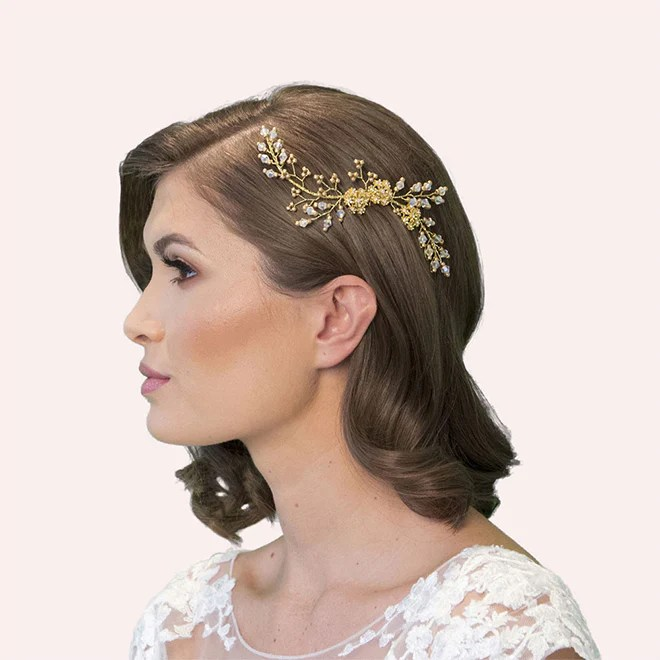 brierley wedding hair comb at lily houston design model image