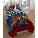 Kids Monster Truck Comforter Twin Set Large Monster Trucks Themed Bedd Diamond Home