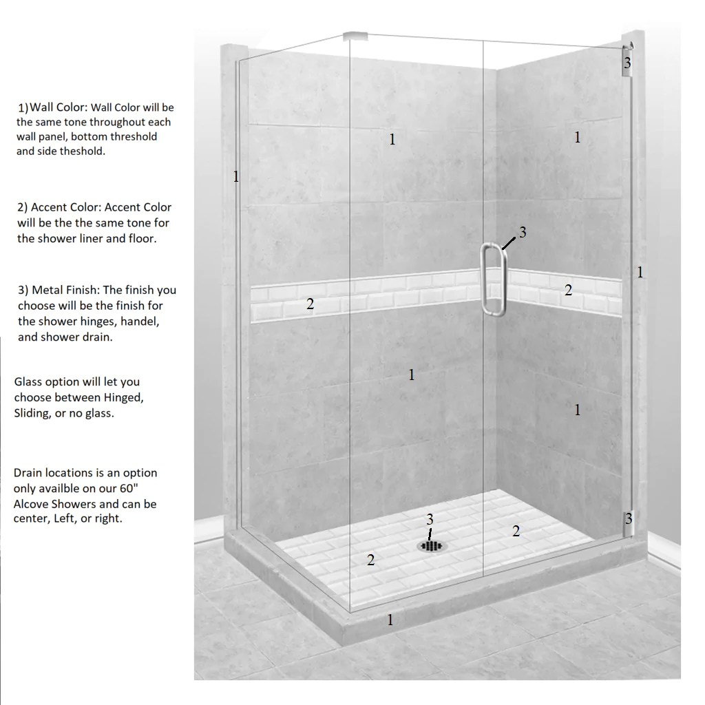 hight resolution of  subway corner shower kit style color options test shower kit american bath factory