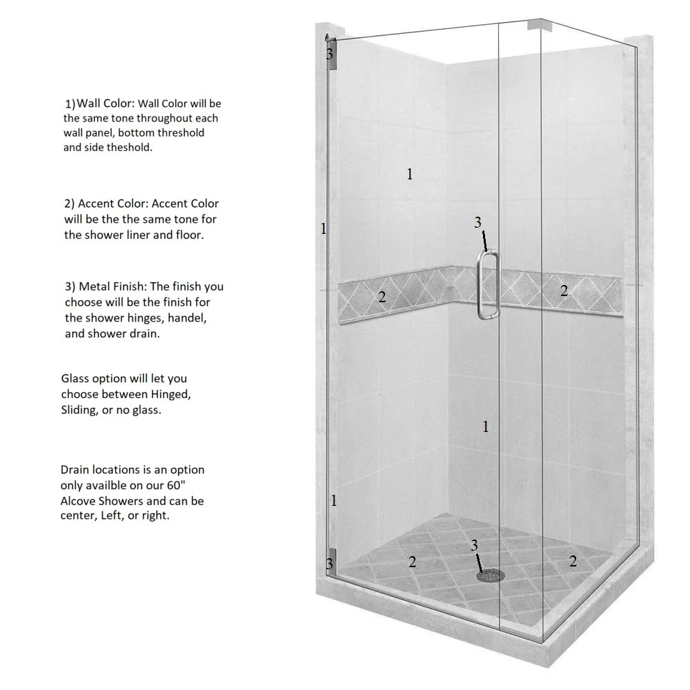 diamond corner shower kit style color options shower kit american bath factory  [ 1000 x 1000 Pixel ]
