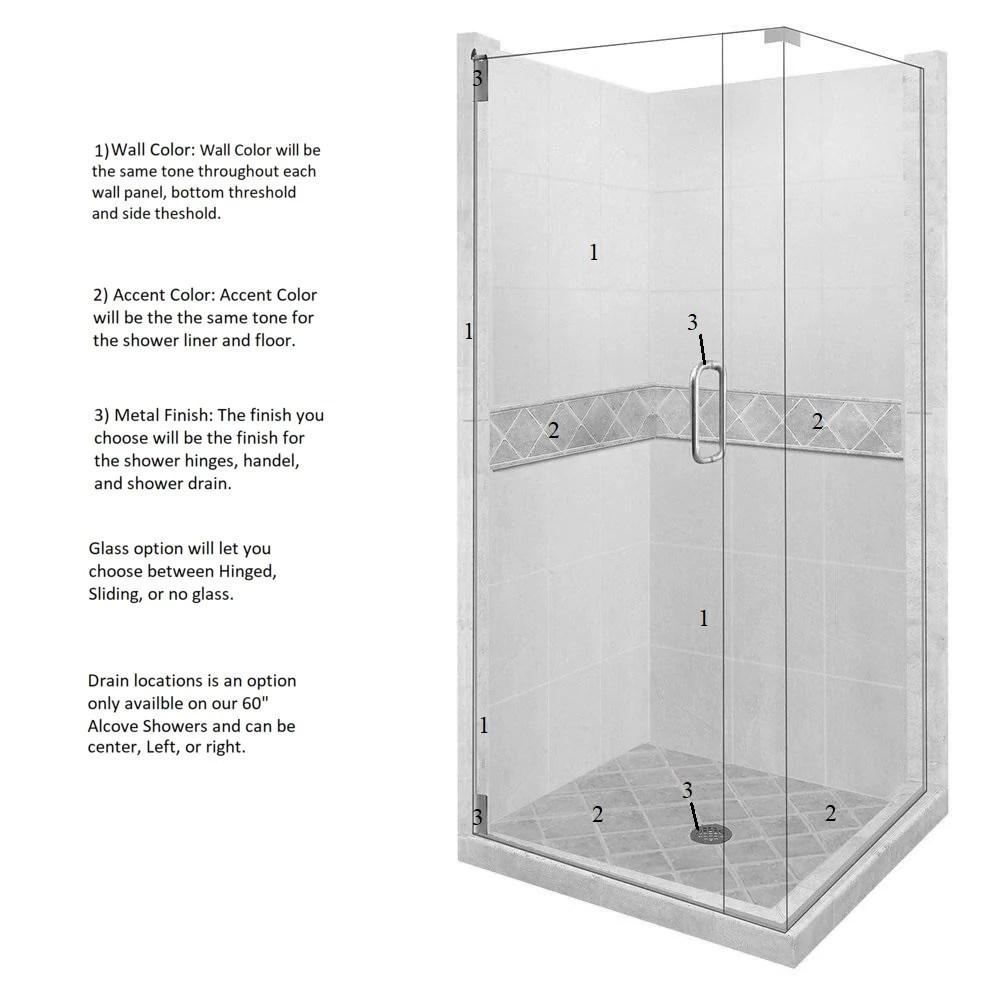 medium resolution of diamond corner shower kit style color options shower kit american bath factory