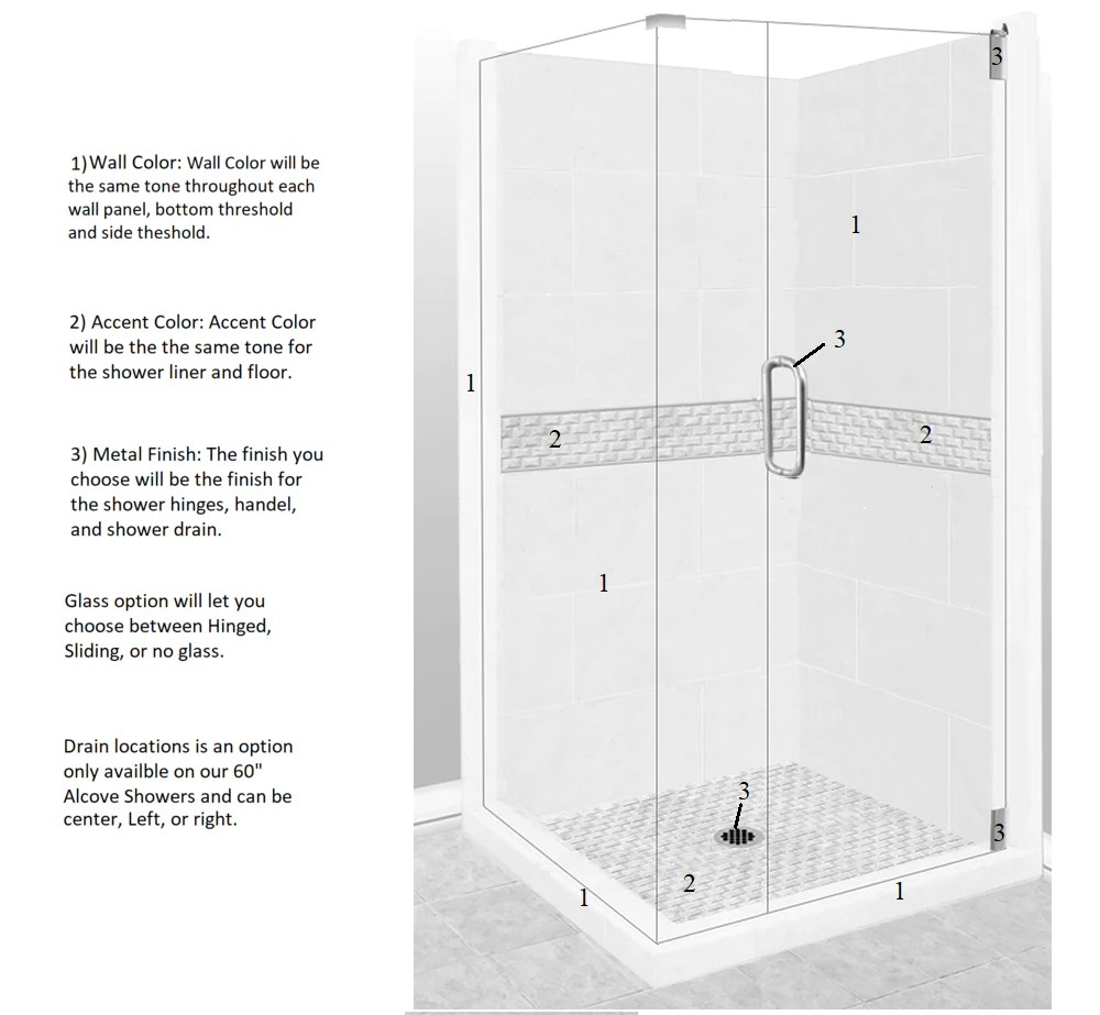 hight resolution of jewel corner shower kit style u0026 color options u2013 american bath factoryjewel corner shower