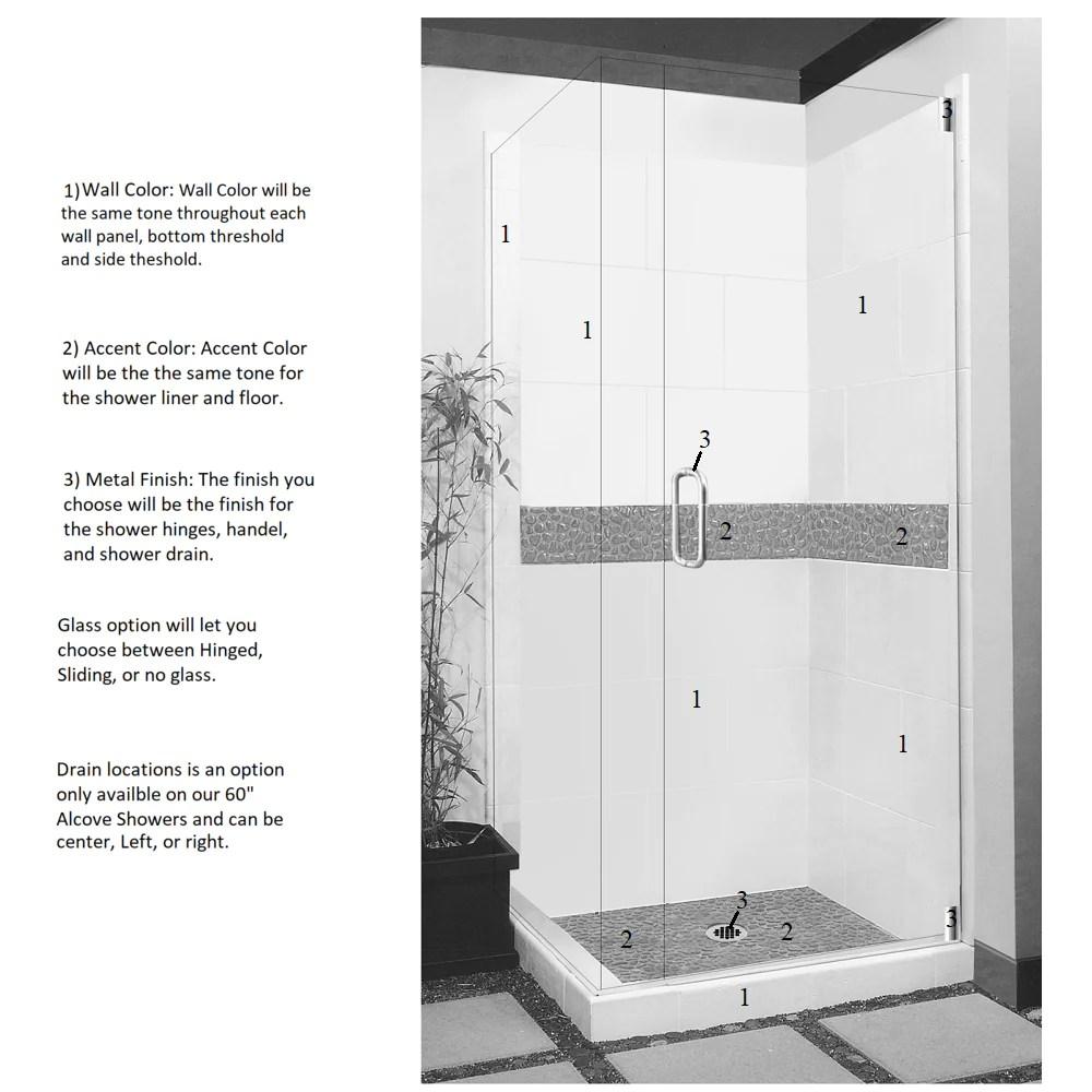 pebble corner shower kit style color options shower kit american bath factory  [ 1000 x 1000 Pixel ]