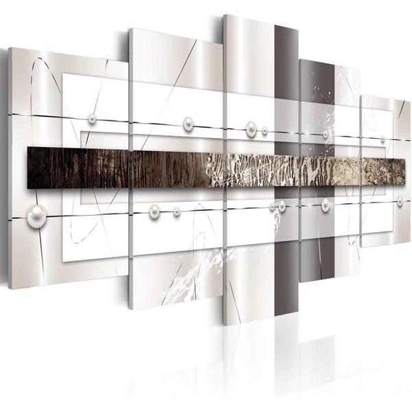 Quadri quadro dipinto su tela bianco e nero per pareti da interno moderno. Quadri Moderni Astratti Bianco E Nero Ilydecor
