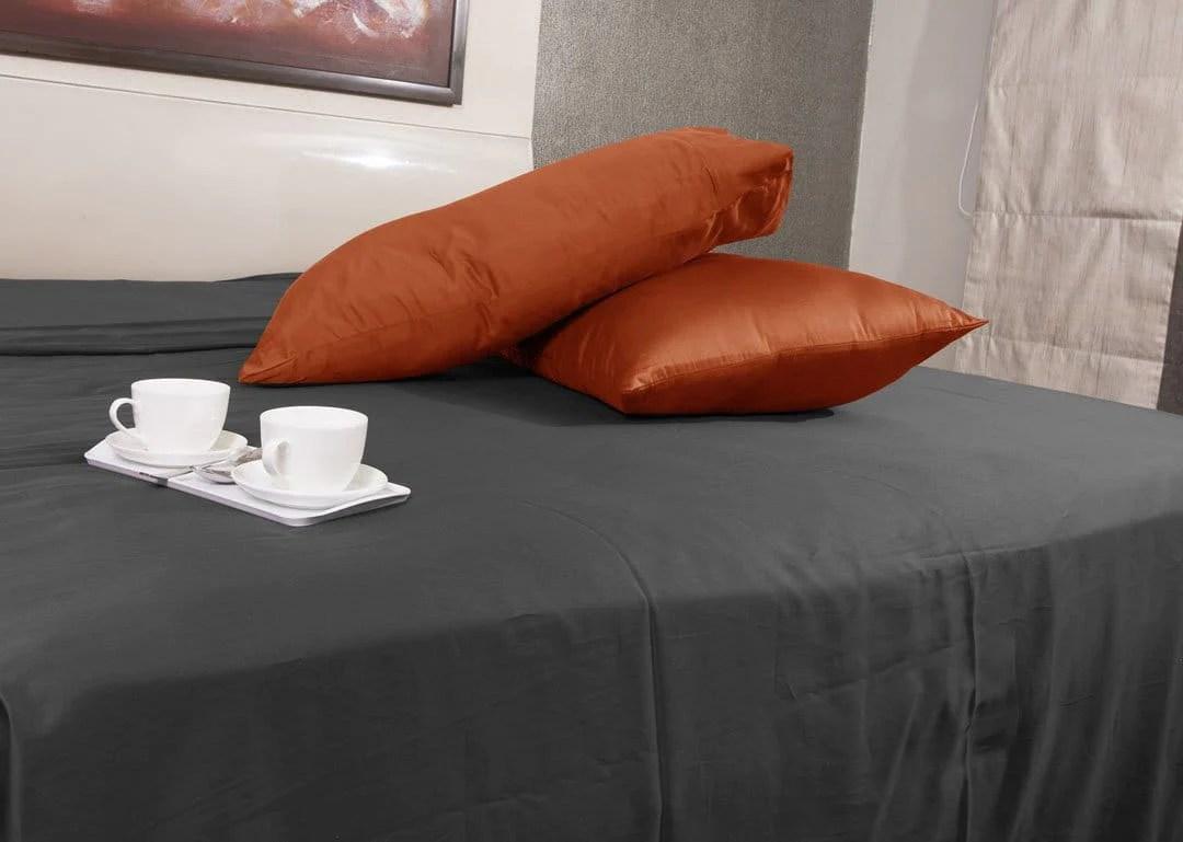luxury orange pillowcases comfy 300tc