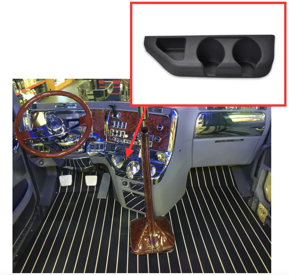 hight resolution of freightliner century and columbia center console cupholder