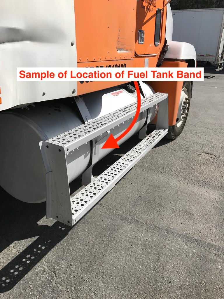 hight resolution of replacement fuel tank band for freightliner