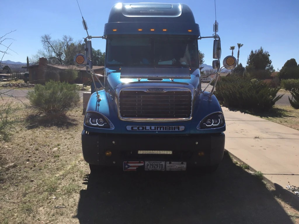 hight resolution of hood grill filler panel columbia freightliner stainles