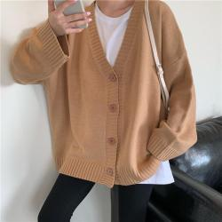 aesthetic solid korean colors cardigan basic knitted itgirl