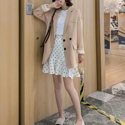 korean aesthetic jacket loose casual blazer itgirl