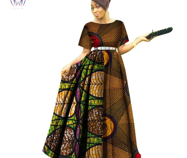 Fashion Women Patchwork Ankara Long Tutu Dresses Bazin Riche African Print Dresses For Women African