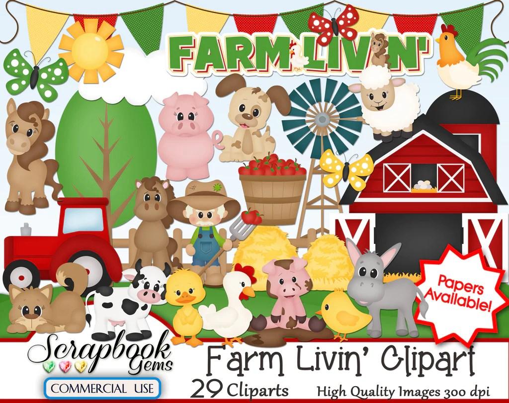 hight resolution of farm livin clipart