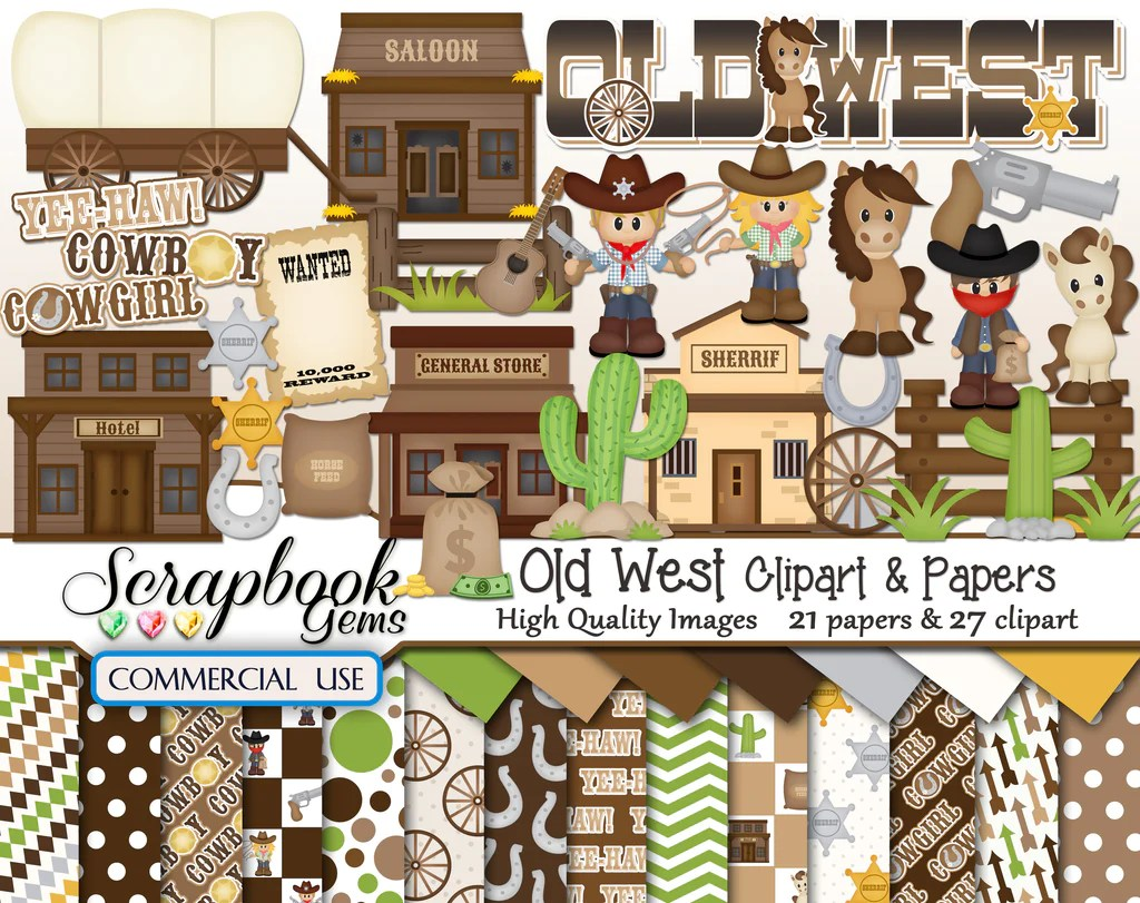 medium resolution of old west clipart papers