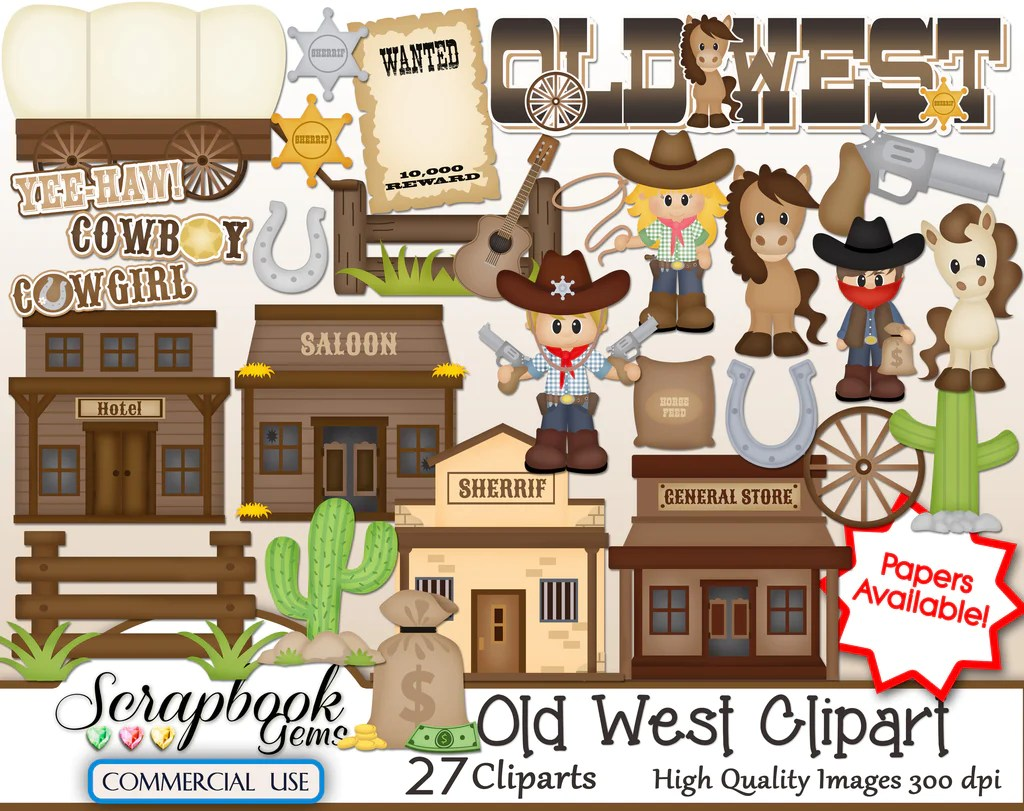 hight resolution of wild west clipart