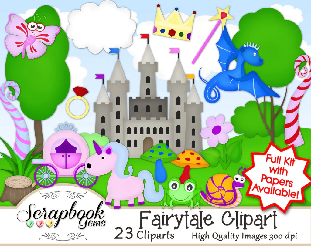 hight resolution of fairy tale clipart