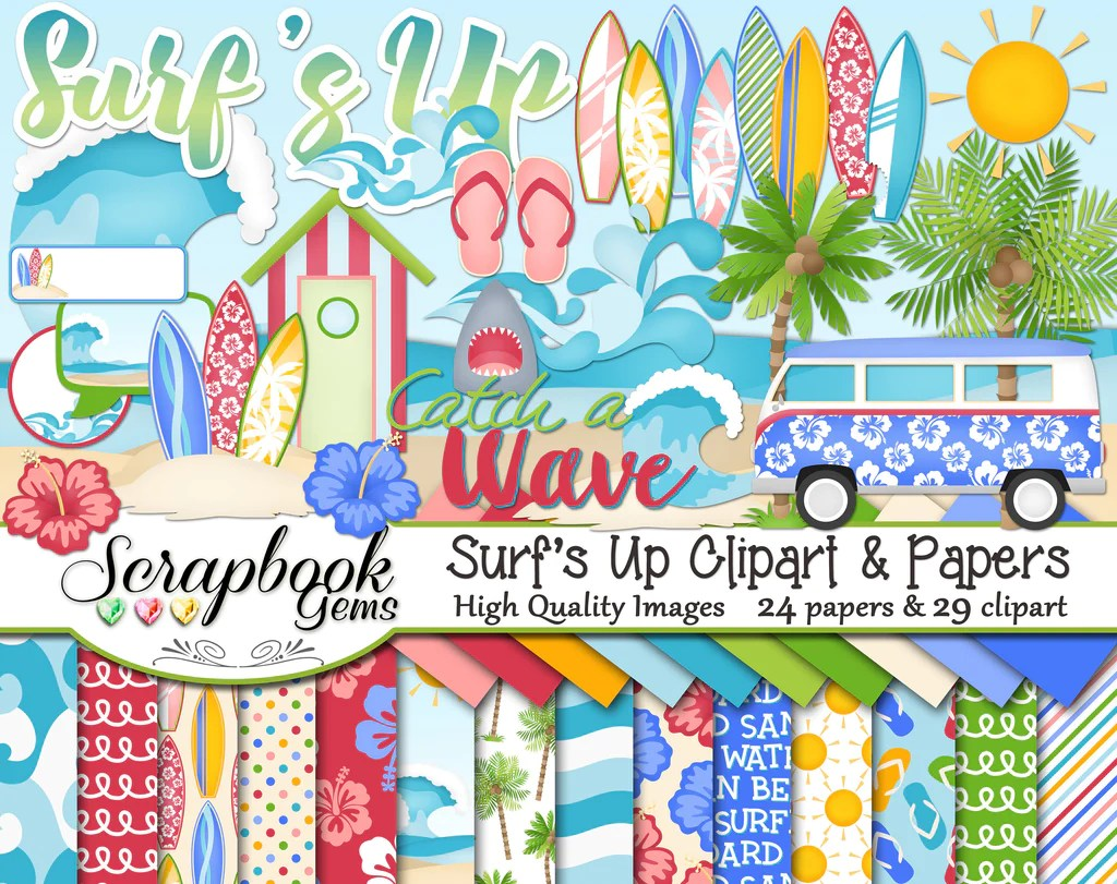 hight resolution of surf s up clipart and papers