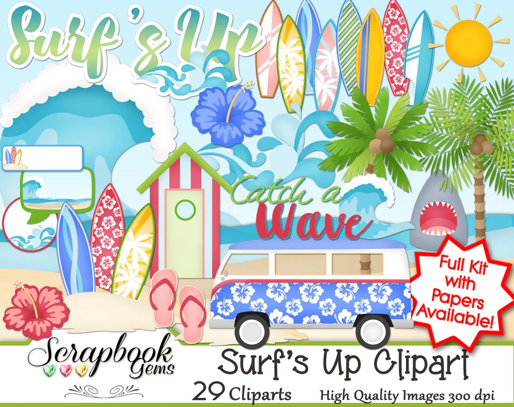 hight resolution of surf s up clipart