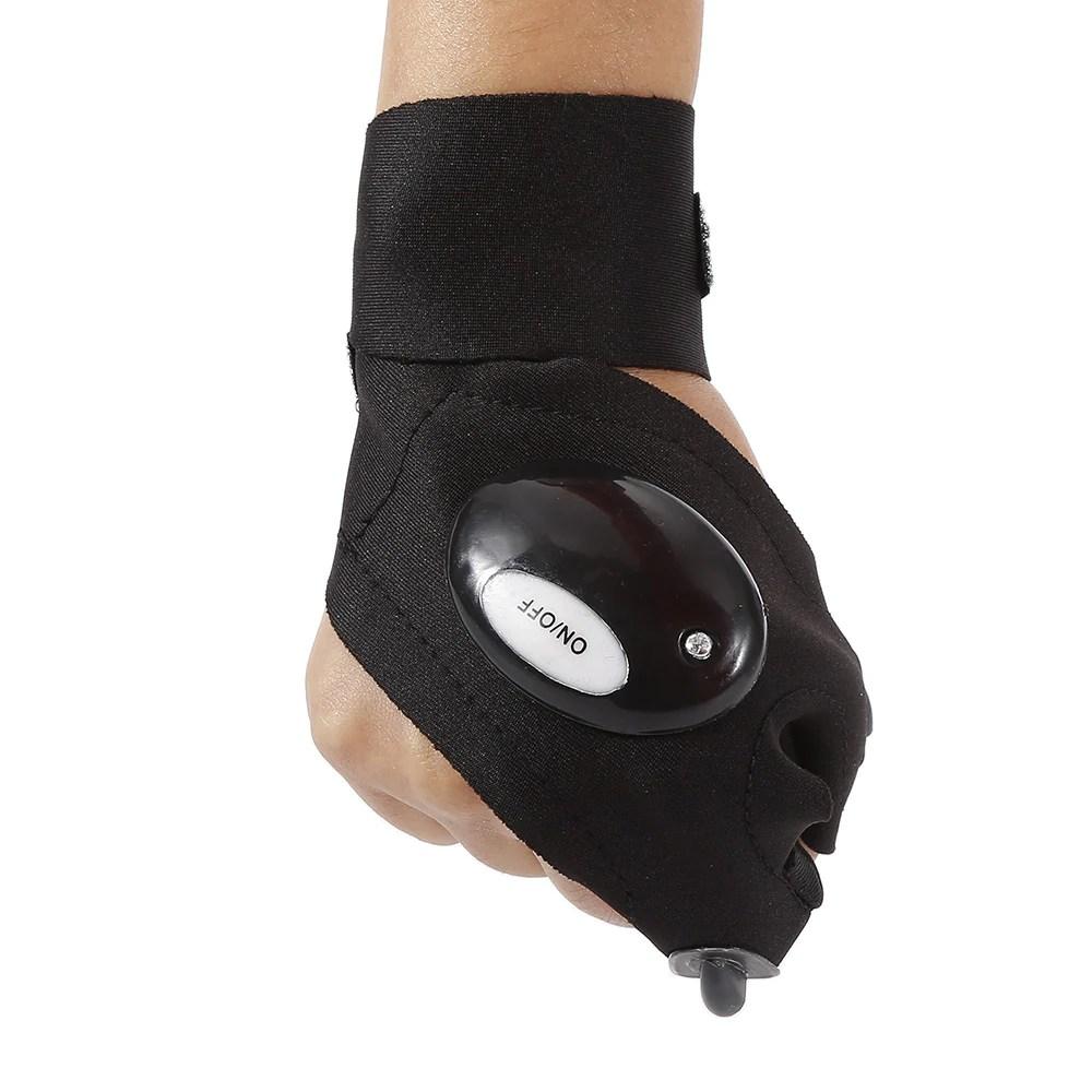 Flashlight with Work Gloves