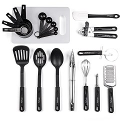 Kitchen Utensil Set Replacement Sprayer Yehua 21 Stainless Steel And Nylon Cooking Utensils With Spatula Nonstick