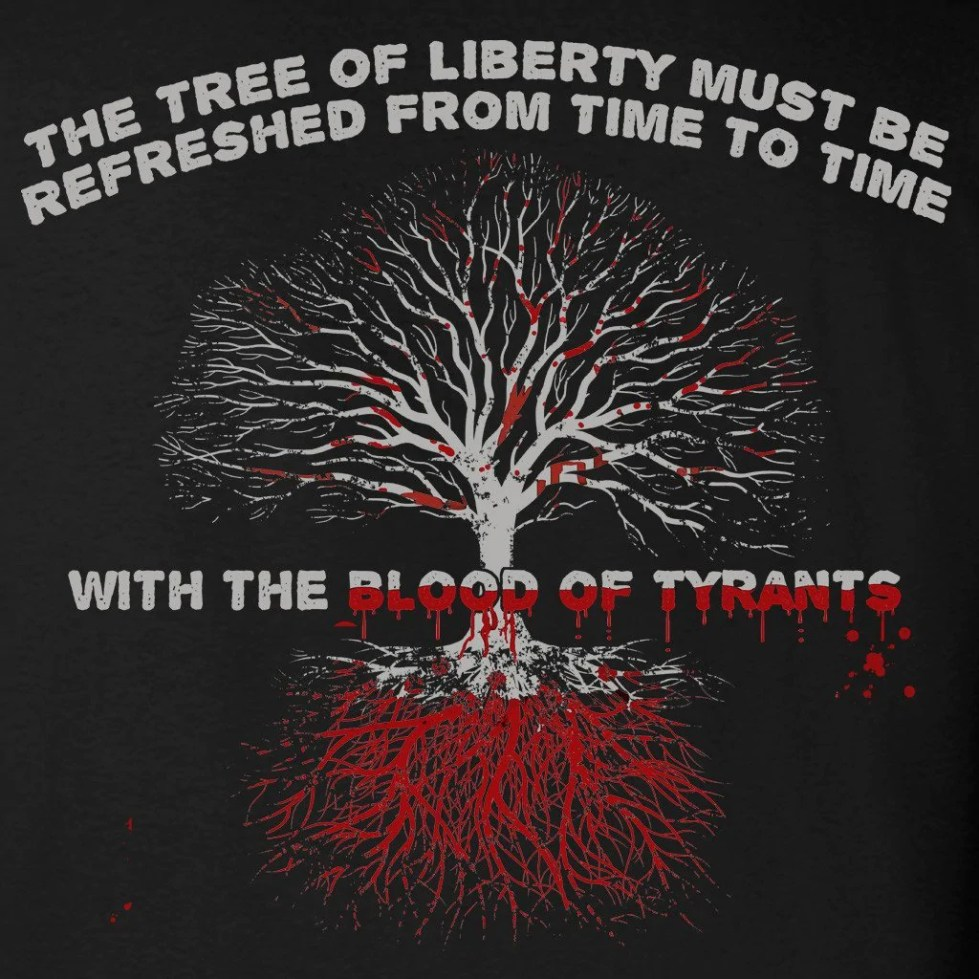 Black Blood of Tyrants T-Shirt - Gadsden and Culpeper